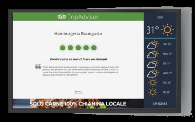Come utilizzare il Digital Signage e gli schermi in ristoranti e fast food